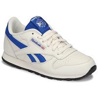 Skor Barn Sneakers Reebok Classic CLASSIC LEATHER Vit / Blå