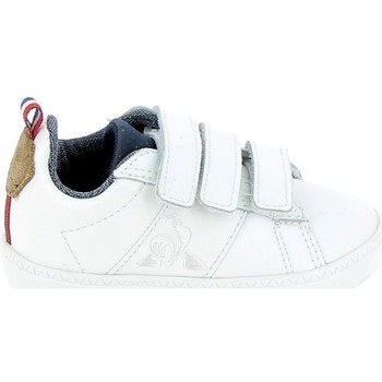 Skor Barn Sneakers Le Coq Sportif Courtclassic BB Blanc Marron Vit