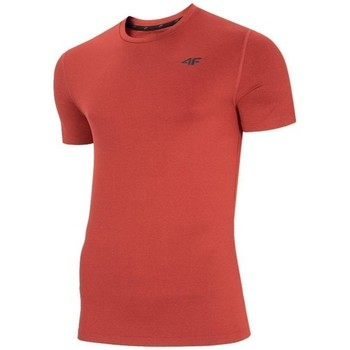 textil Herr T-shirts 4F NOSH4TSMF00362M Röda