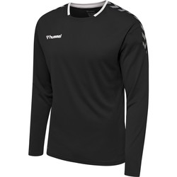 textil Herr Långärmade T-shirts Hummel Maillot  manches longues hmlAUTHENTIC Poly noir/blanc