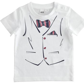 textil Pojkar T-shirts Ido 4J692 Bianco
