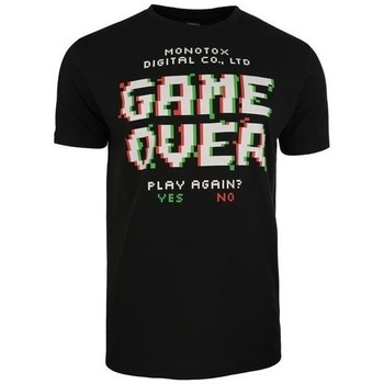textil Herr T-shirts Monotox Game Over Svarta