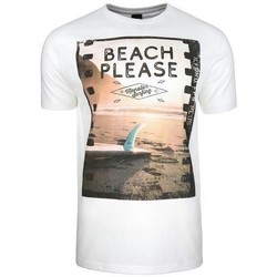 textil Herr T-shirts Monotox Beach Vit, Orange