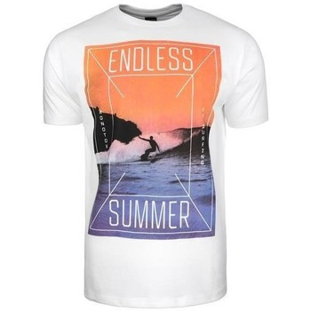 textil Herr T-shirts Monotox Endless Vit, Orange, Lila