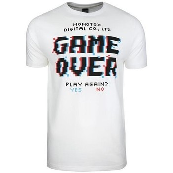 textil Herr T-shirts Monotox Game Over Vit