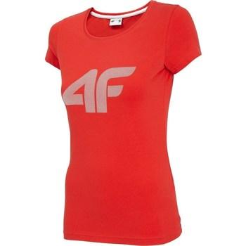 textil Dam T-shirts 4F TSD005 Röda