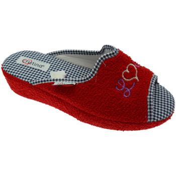 Skor Dam Tofflor Cristina CRIS24ros rosso