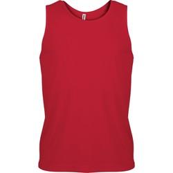 textil Herr Linnen / Ärmlösa T-shirts Proact Débardeur  Sport rouge