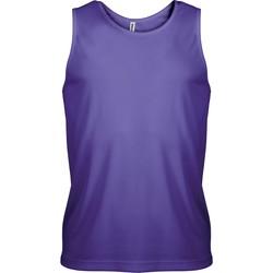 textil Herr Linnen / Ärmlösa T-shirts Proact Débardeur  Sport violet