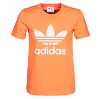 textil Dam Sweatshirts adidas Originals TREFOIL TEE Orange