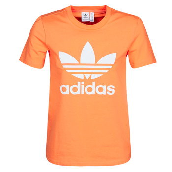 textil Dam Sweatshirts adidas Originals TREFOIL TEE Orange