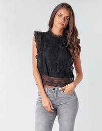 textil Dam Blusar Only ONLKARO Svart