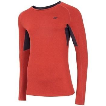 textil Herr Långärmade T-shirts 4F TSMLF002 Orange