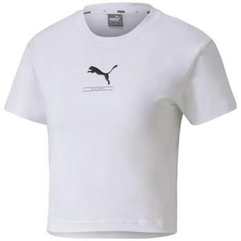 textil Dam T-shirts Puma Nutility Fitted Tee Vit
