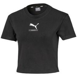 textil Dam T-shirts Puma Nutility Fitted Tee Svarta