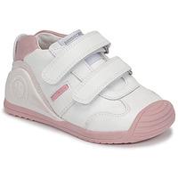 Skor Flickor Sneakers Biomecanics BIOGATEO SPORT Vit / Rosa