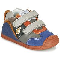 Skor Pojkar Sneakers Biomecanics ZAPATO SPORT VELCRO Grå / Blå / Orange