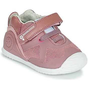 Skor Flickor Sneakers Biomecanics ZAPATO ELASTICO Rosa