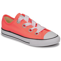 Skor Flickor Sneakers Converse CTAS BIG EYELET OX LAVA GLOW/WHITE/BLACK Rosa