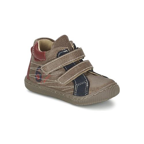 Skor Pojkar Höga sneakers Citrouille et Compagnie THEO Mullvadsfärgad