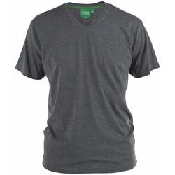 textil Herr T-shirts Duke Signature-2 Charcoal Melange