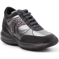 Skor Dam Sneakers Geox D Happy A D6462A-022AJ-C9A1G black, silver