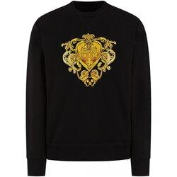 textil Herr Sweatshirts Versace B7GVB7EB Svart