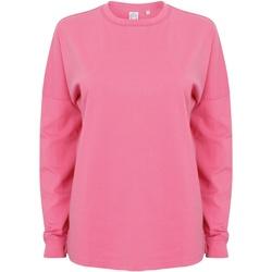 textil Herr Sweatshirts Skinni Fit Slogan Ljusrosa