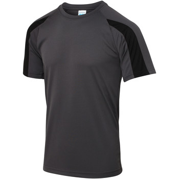 textil Herr T-shirts Just Cool JC003 Charcoal/Jet Black