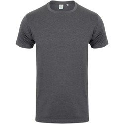 textil Herr T-shirts Skinni Fit SF121 Lätt kolgrönt