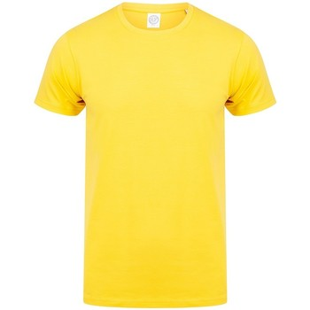 textil Herr T-shirts Skinni Fit SF121 Gul