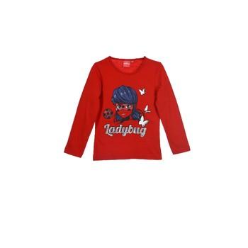 textil Flickor Långärmade T-shirts TEAM HEROES  MIRACULOUS LADYBUG Röd