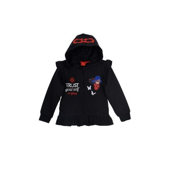 textil Flickor Sweatshirts TEAM HEROES  MIRACULOUS LADYBUG SWEAT Svart
