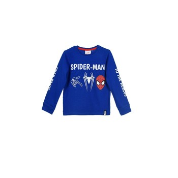 textil Pojkar Sweatshirts TEAM HEROES SPIDERMAN  TSHIRT ML Blå