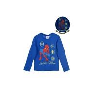 textil Pojkar Långärmade T-shirts TEAM HEROES SPIDERMAN Blå