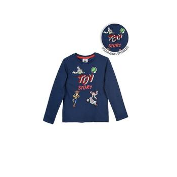 textil Pojkar Långärmade T-shirts TEAM HEROES TOY STORY Marin