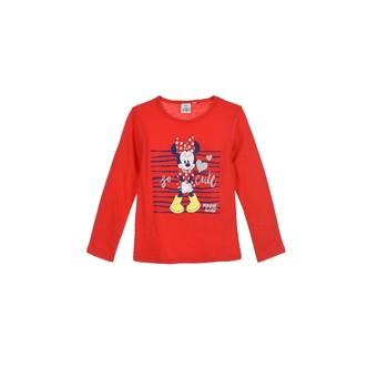 textil Flickor Långärmade T-shirts TEAM HEROES MINNIE Röd