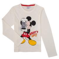 textil Pojkar Långärmade T-shirts TEAM HEROES MICKEY Vit