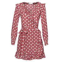 textil Dam Korta klänningar MICHAEL Michael Kors LUX PINDOT WRAP DRS Bordeaux