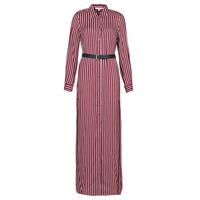 textil Dam Långklänningar MICHAEL Michael Kors WARM PLAYFL SHIRT DR Bordeaux / Vit / Marin