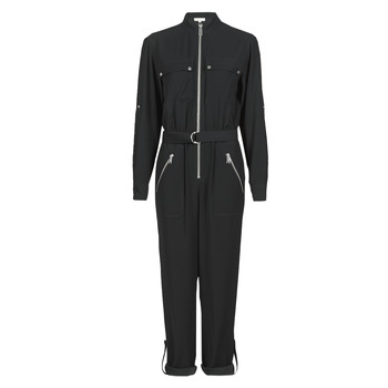 textil Dam Uniform MICHAEL Michael Kors SPORTY ZIP JUMPSUIT Svart