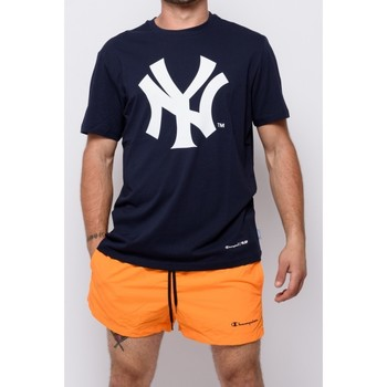 textil Herr T-shirts Champion Crewneck T-shirt (214649-bs501) Blå