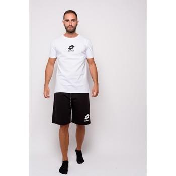 textil Herr T-shirts Lotto halvärmad Jersey T-shirt (ltu012-white) Vit