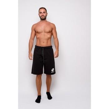 textil Herr Shorts / Bermudas Lotto Sweatshirt Bermuda med tryck (ltu013-svart) Svart