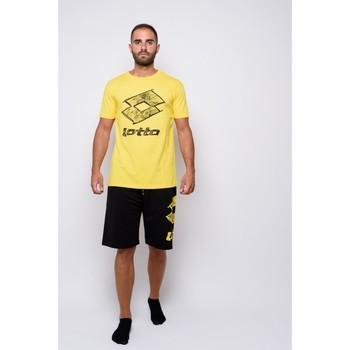 textil Herr T-shirts Lotto halvärmad Jersey T-shirt (ltu035-gul) Gul
