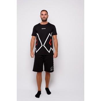 textil Herr T-shirts Lotto halvärmad Jersey T-shirt (ltu027-black) Svart