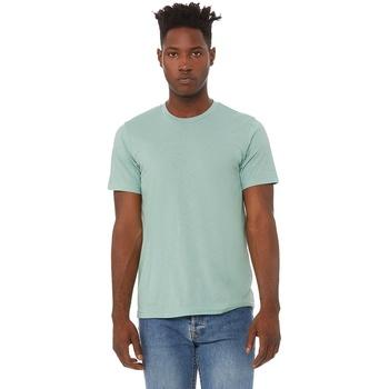 textil Herr T-shirts Bella + Canvas CA3413 Dammig blå triblend