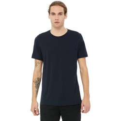 textil Herr T-shirts Bella + Canvas CA3413 Solid Navy Triblend