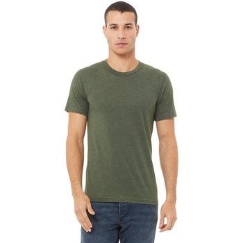 textil Herr T-shirts Bella + Canvas CA3413 Militärt grönt triblend