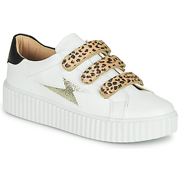 Skor Dam Sneakers Vanessa Wu BASKETS À SCRATCHS ANIMALIER Vit / Leopard